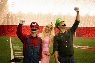 Mario Bros and Peach